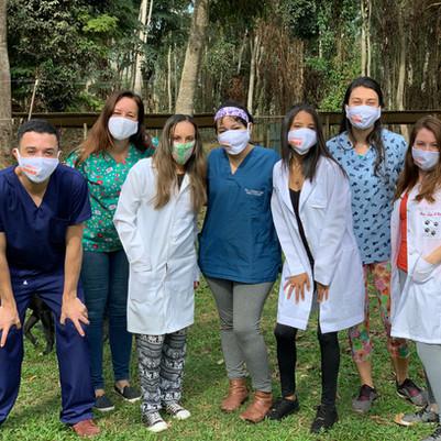 Futuros Auxiliares Enfermeiros Veterinários fazem treinamento no Canil