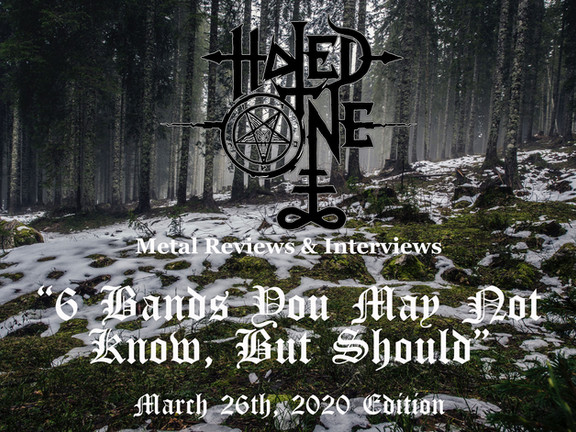 """6 Bands You May Not Know, But Should"" - 3/26/2020 Edition"