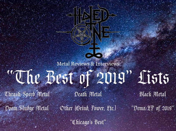 """Hated One Metal Reviews' """"The Best of 2019"""" Lists"""