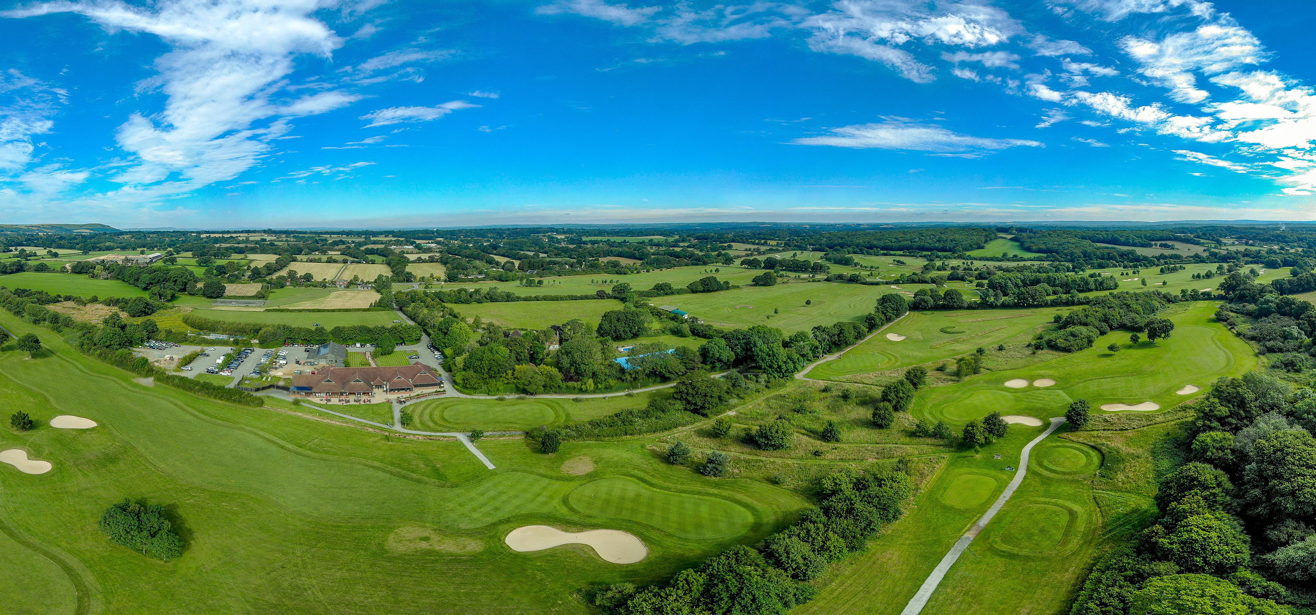 Golf Course Aerial Panorama