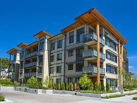 Modern apartment condominium building