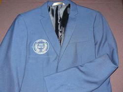 Veste costume brodée avec logo badge