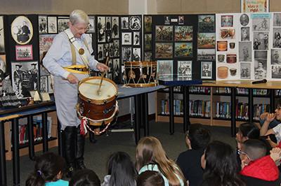 Nancy Clayton reaches a milestone with local schoolchildren.
