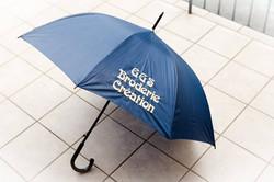 broderie sur parapluie publicitaire