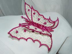 Sujet brodé papillon 3D