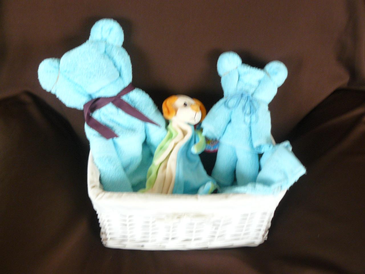 Panier modelage de serviette