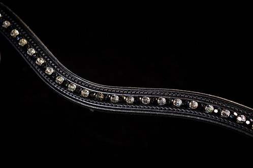 Jet & Clear Crystal Browband
