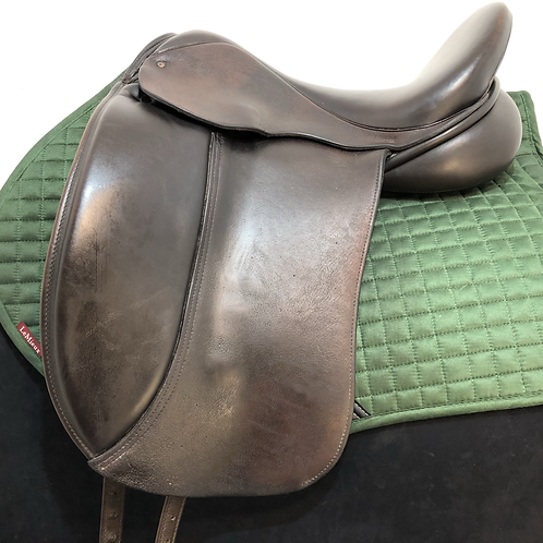 "IDEAL MONOFLAP DRESSAGE 17""-17.5""MEDIUM/MEDIUM WIDE BROWN"