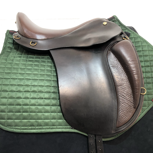 "STRADA MICHELA LING DRESSAGE 16"" MEDIUM WIDE BROWN"