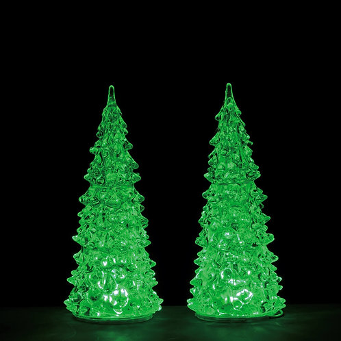 Crystal lighted tree set de 2