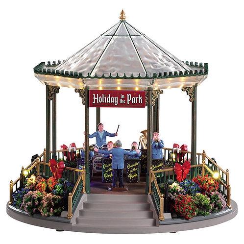 Holiday garden green bandstand