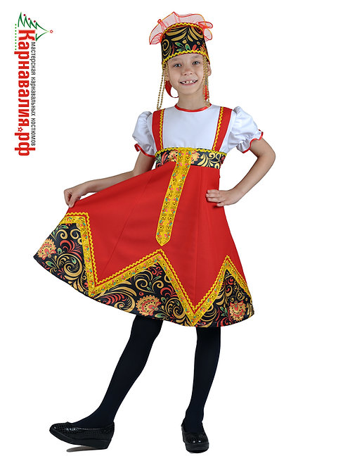 Хохлома, костюм для девочки опт