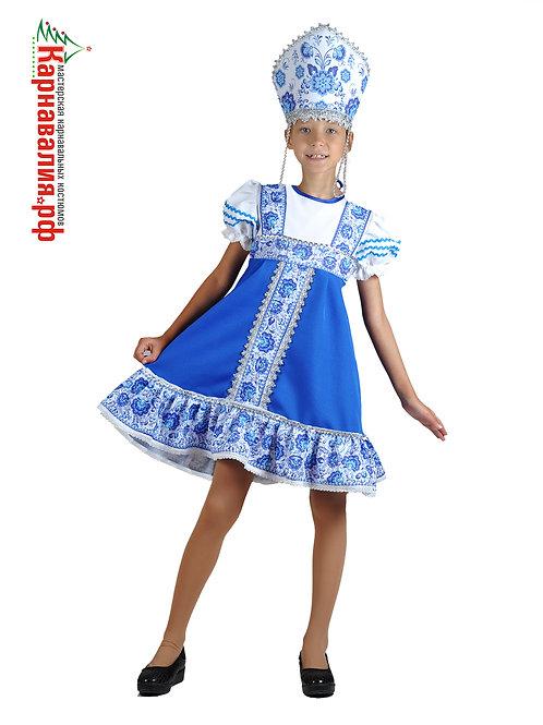 Гжель, костюм для девочки