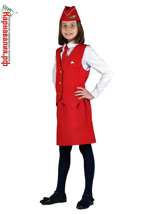 Стюардесса красный дев.