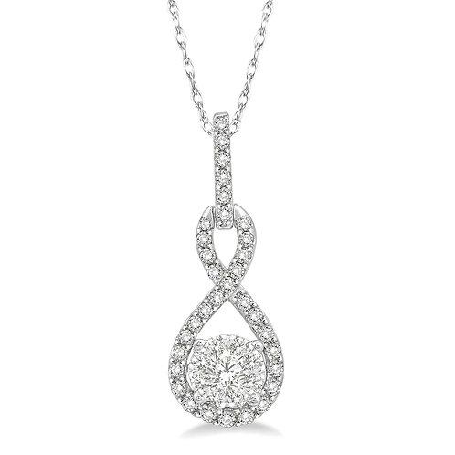 14K white gold diamond pendant necklace. Diamond pendant. Diamond necklace. WOW! Diamonds. Cluster diamonds. DIamond cluster.
