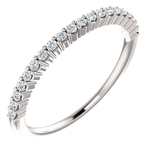 14K white gold diamond shared prong anniversary or wedding band. Diamond band. Diamond anniversary band. Diamond ring. White.