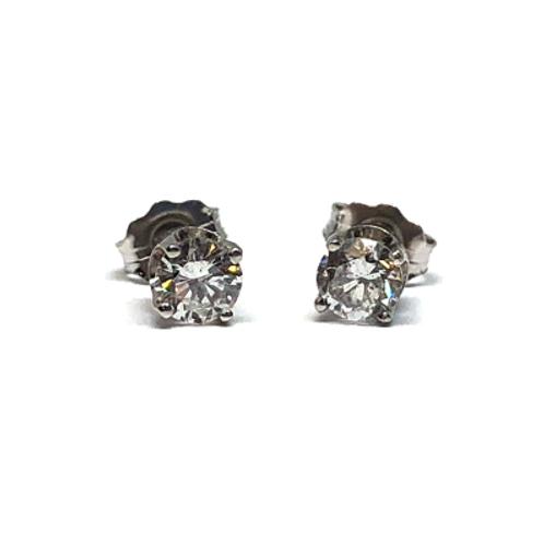 14K white gold diamond stud earrings. 1/2ct diamond earrings. .50cttw diamond stud earrings. Diamond earrings. Diamond ear.