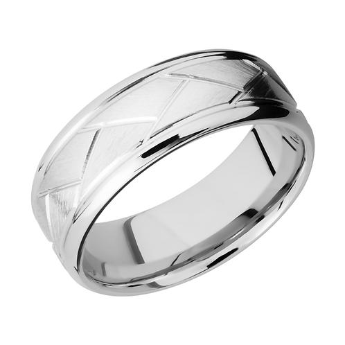 Cobalt chrome ring with woven finish. Men's cobalt chrome wedding band. Men's wedding ring. Men's wedding band. Cobalt band.