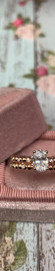 14K Rose Gold and 0.06cttw Bezel Set Diamond Beaded Stackable Engagement Ring