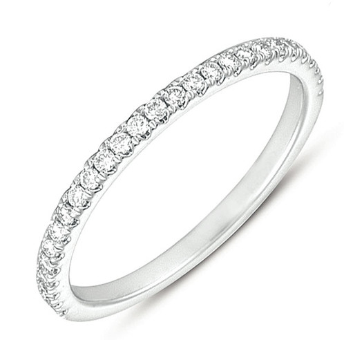 Diamond Wedding Band Fits Into Engagement Ring Pocket Pave