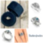 Custom white gold and bezel set diamond ring. Custom design by Evan Silbert at Thurber Jewelers Custom Design Studio in Elk River, Minnesota