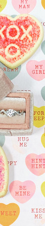 14K White Gold and .18cttw Diamond Braided Engagement Ring