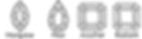 Thurber Jewelers Diamond Shape Chart - Marquise - Pear Shape - Asscher - Radiant Cut