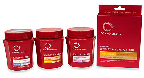 Connoisseurs Jewelry Cleaning products. Examples of home jewelry cleaning products. How to clean your jewelry at home safely.