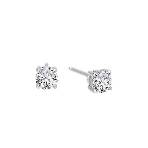 Simulated diamond stud earrings. Sterling silver stud earrings. Cubic zirconia stud earrings. Simulated diamond earrings.