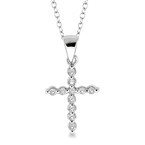 Sterling silver diamond cross pendant. Diamond pendant. Cross pendant. Religious pendant. Diamond cross pendant. Cross.
