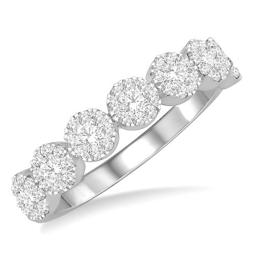 """14K white gold """"WOW!"""" diamond stackable ring. Stacking ring. Diamond band. Round diamond ring. Round diamond row band. Gold"""