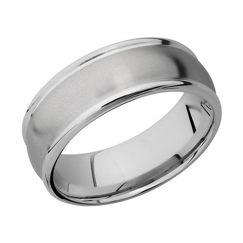 Men's cobalt chrome wedding band with domed surface and rounded edges. Men's domed wedding ring. Domed wedding band. Men's.