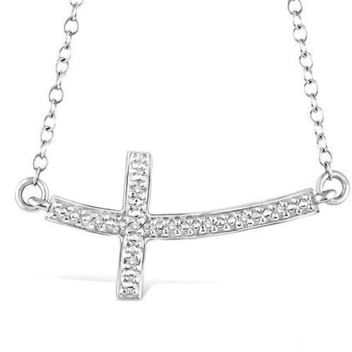 Sideways cross pendant. East west cross pedant. Horizontal cross pendant. Sterling silver cross pendant.