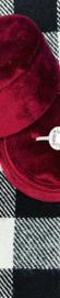 14K White Gold Oval Cut Diamond Halo Engagement Ring