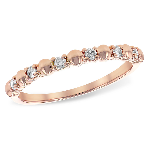 14K rose gold diamond anniversary or wedding band. Diamond band. Rose gold ring. Rose gold band. Diamond ring. Rose gold ring