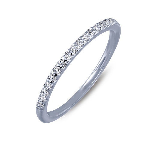 Platinum plated sterling silver stackable ring with simulated diamonds. Stack ring. Stacking ring. Silver stackable ring.