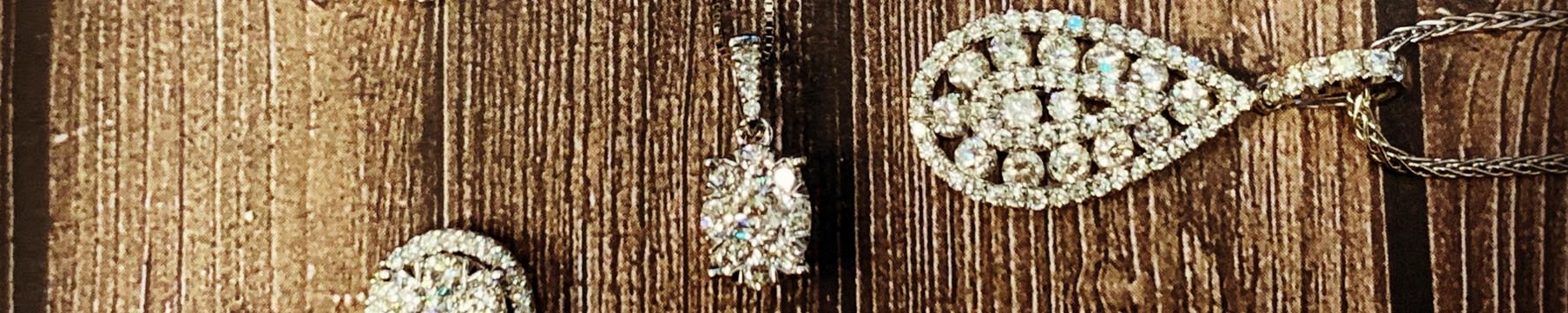 Pear Shaped Diamond Pendants