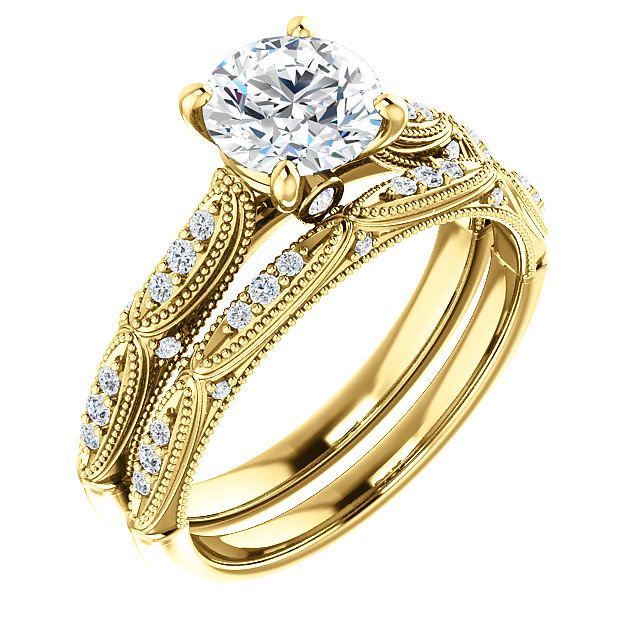 Drawing Inspiration Victorian Era Furniture And Decor This Stunning Engagement Ring Features Rich Carved Details Accented By Millgrain Textures G