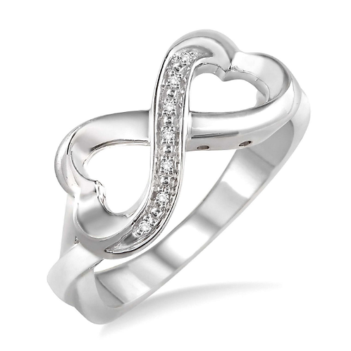 Sterling silver diamond infinity ring. Infinity heart ring. Diamond infinity heart ring. Diamond ring. Sterling silver heart.