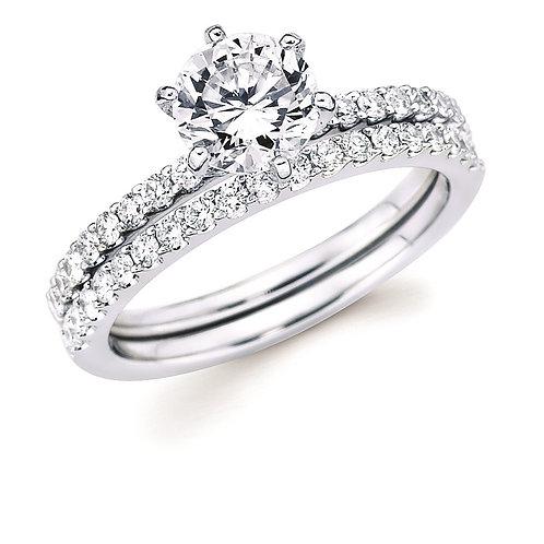 14K white gold diamond engagement ring. Skinny engagement ring. Slim band. Diamond band. White gold diamond band. Engagement.