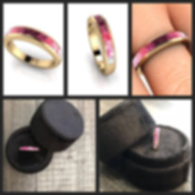 Custom ring fro design stage to final product photo.