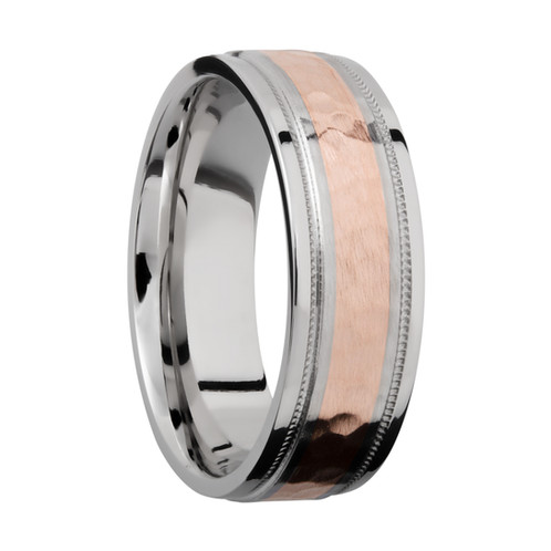 Cobalt Chrome And Rose Gold Wedding Ring Two Tone Men S