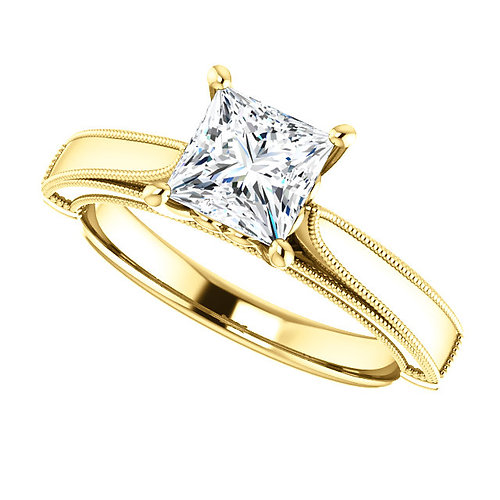 princess engagement ring diamond engagement ring 14k yellow gold diamond engagement ring with princess - Princess Wedding Ring