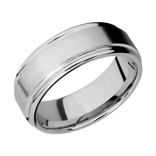 Men's cobalt chrome wedding band with rounded edges. Satin finished cobalt chrome men's wedding band. Wedding ring. Men's.