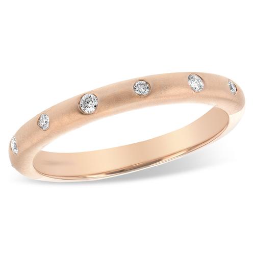 a3eaf68b808 ... Rose gold flush set diamond band with flush set diamonds. Satin finish  wedding band.
