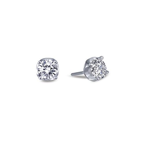 Simulated diamond stud earrings. Silver stud earrings. Platinum stud earrings. Crystal stud earrings.