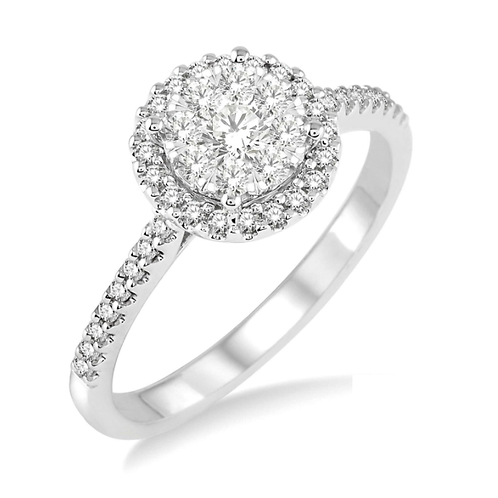 "14K White Gold and .50cttw ""WOW!"" Diamond Engagement Ring"