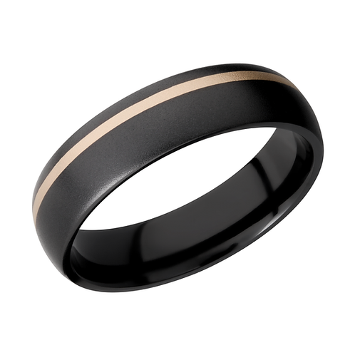 Black men's band. Black zirconium wedding ring with yellow gold inlay stripe. Black wedding ring. Black wedding band. Yellow.