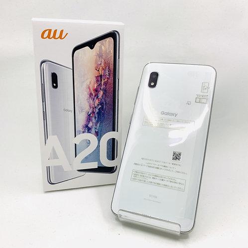 【未使用】SIMフリー Galaxy SCV46 A20 ホワイト 283