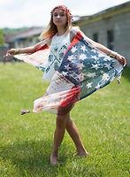 Model Autumn in the Stars & Stripes Photo Shoot